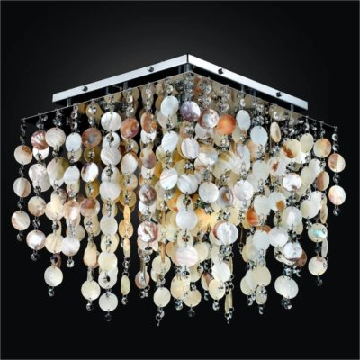 Square Ceiling Light – Oyster Shell Light Fixture | Cityscape 598S