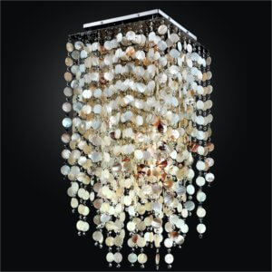 Seashell Ceiling Light | Cityscape 598S by GLOW Lighting