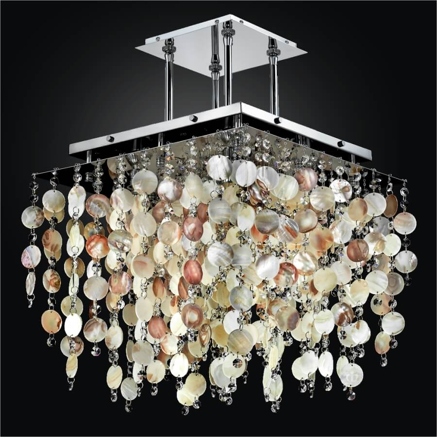 Seashell Chandelier | Cityscape 598S by GLOW Lighting