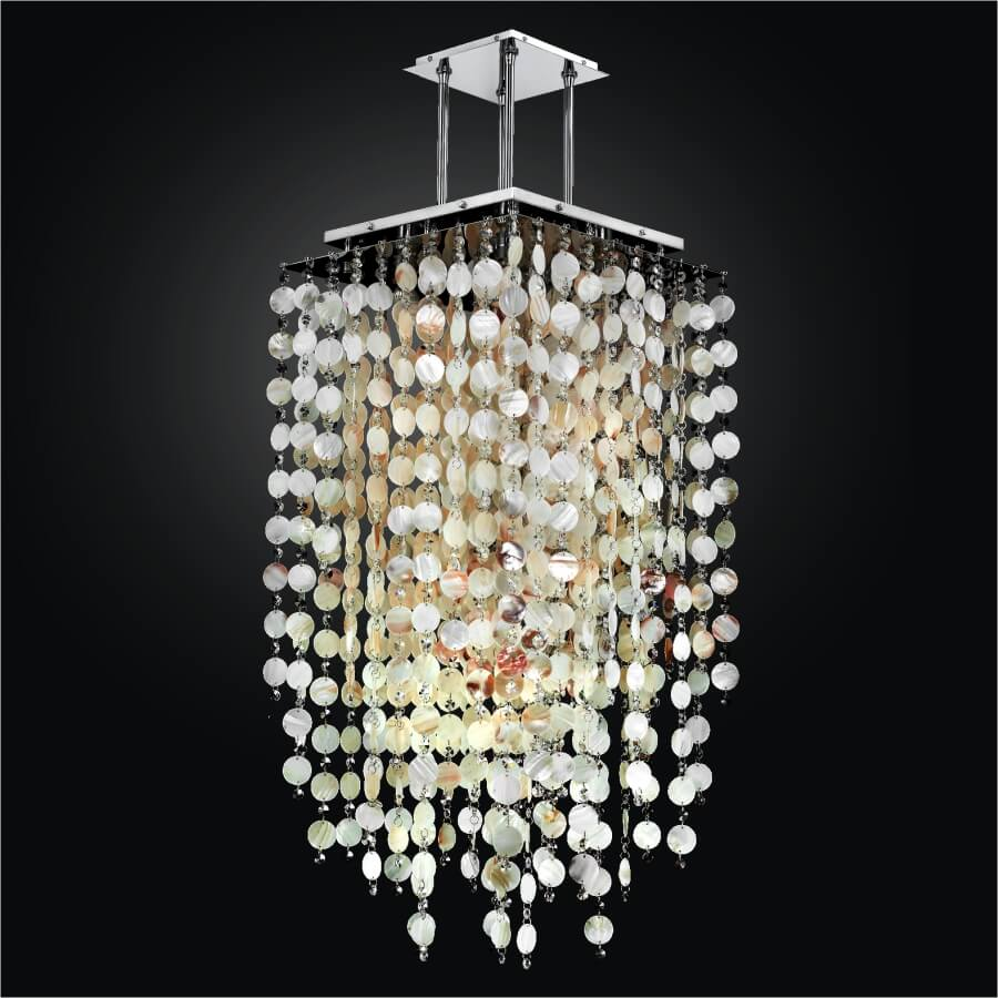 Oyster Chandelier | Cityscape 598S by GLOW Lighting
