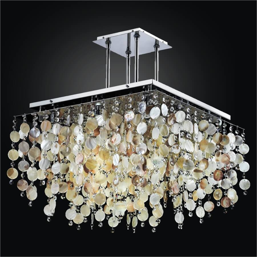 Seashell Chandelier | Cityscape 598SD24-17SP-7