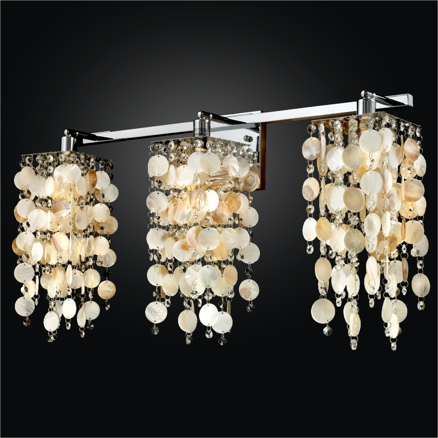 Oyster Shell Wall Sconce Cityscape 598s Glow Lighting