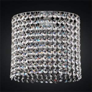 Oval Single Layer Clear Crystal Trim Kit | Fuzion X 706 by GLOW® Lighting