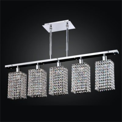 Create Your Own – 5 Light Chandelier – Linear Chandelier – Assorted Crystal Trim Kits | Fuzion X 700