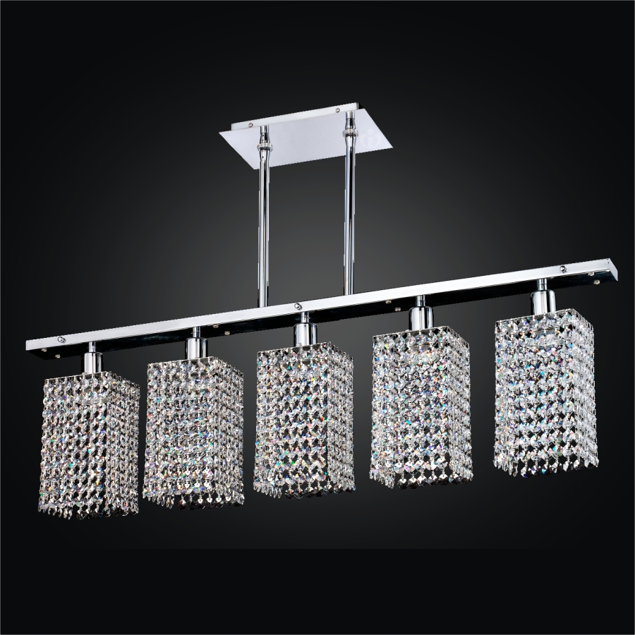 5 Light Pendant Light | Fuzion X 700 by GLOW® Lighting