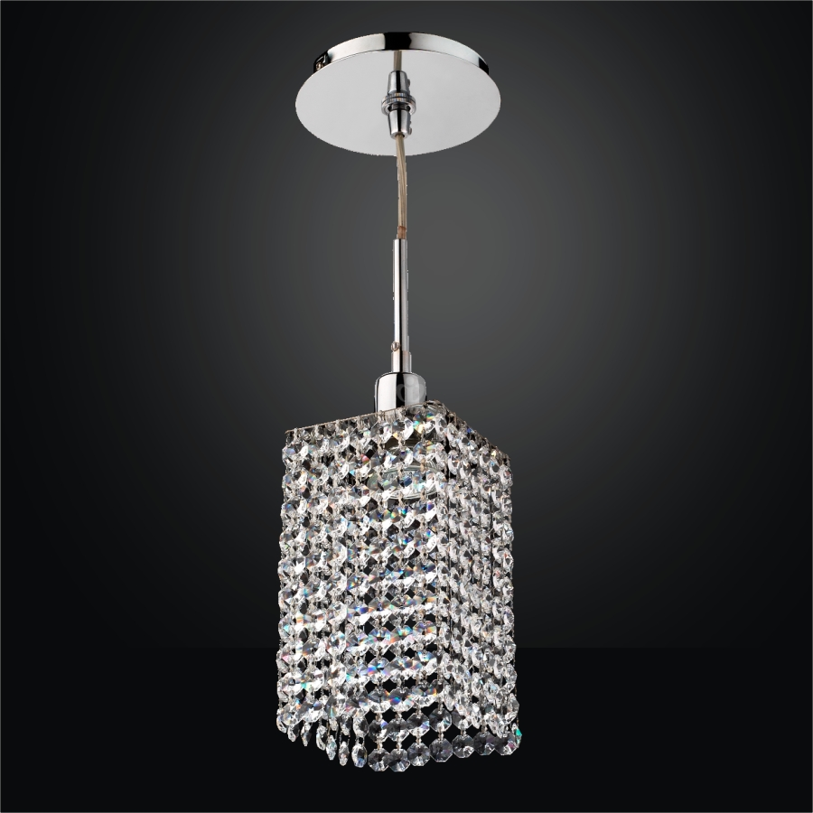 Crystal Mini Pendant Light Fuzion X 700 Glow 174 Lighting
