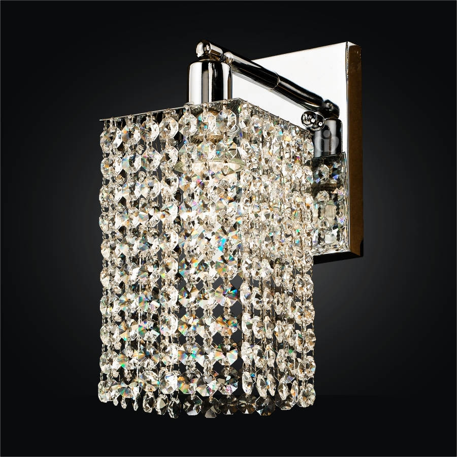 1 Light Wall Sconce fuzion x glow crystal wall sconce 7W1LSP+702A-3