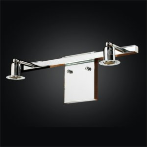 Chrome 2 Light Vanity Fixture | Fuzion X 700 by GLOW Lighting