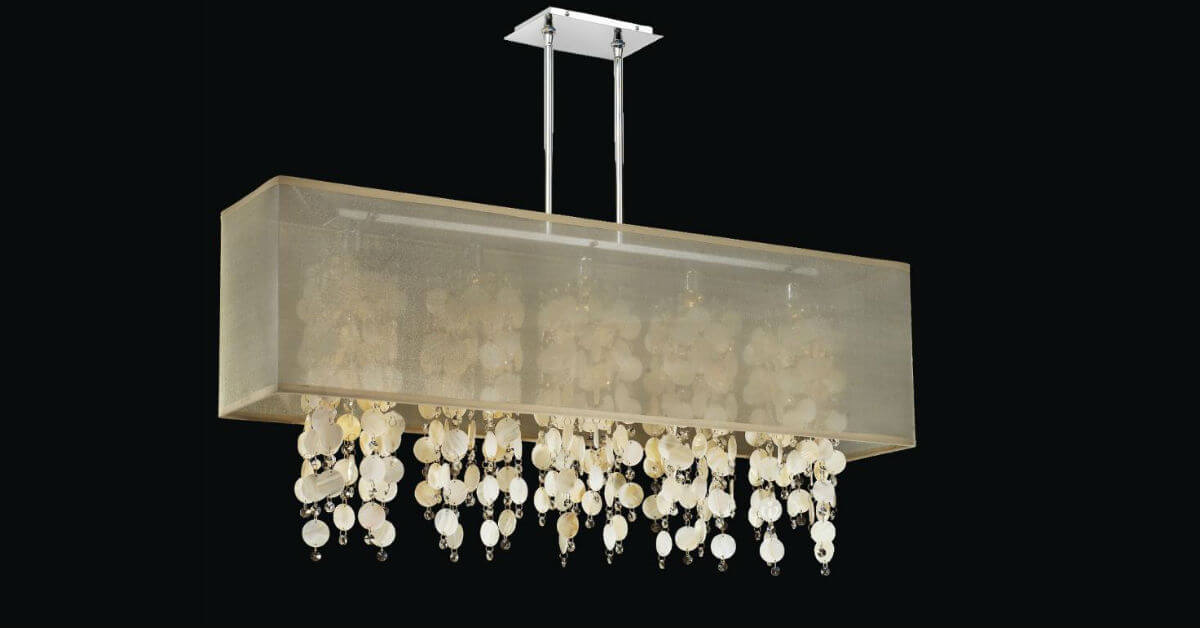 Small spaces big ideas small chandeliers glow lighting rectangular shell chandelier omni 627s small chandeliers aloadofball Gallery