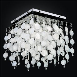 Capiz Shell Light Fixture | Cityscape 598K by GLOW® Lighting.
