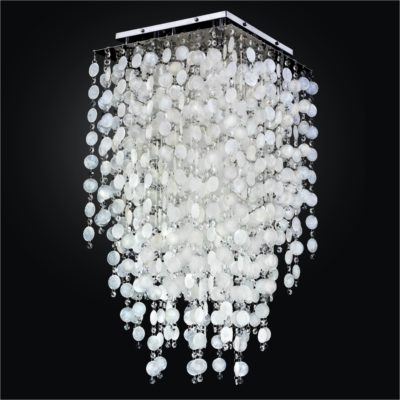 Capiz Shell Flush Mount with Crystal | Cityscape 598K