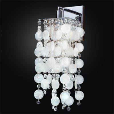 Crystal wall sconce crystal wall lights shop glow lighting capiz shell wall sconce with crystal cityscape 598k mozeypictures