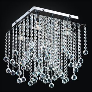Crystal Flush Ceiling Light | Cityscape 598F by GLOW Lighting