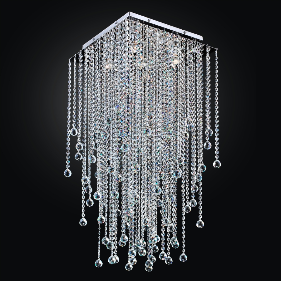 fixture lighting large glass long light kitchen lights modern crystal ceiling rectangular fixtures