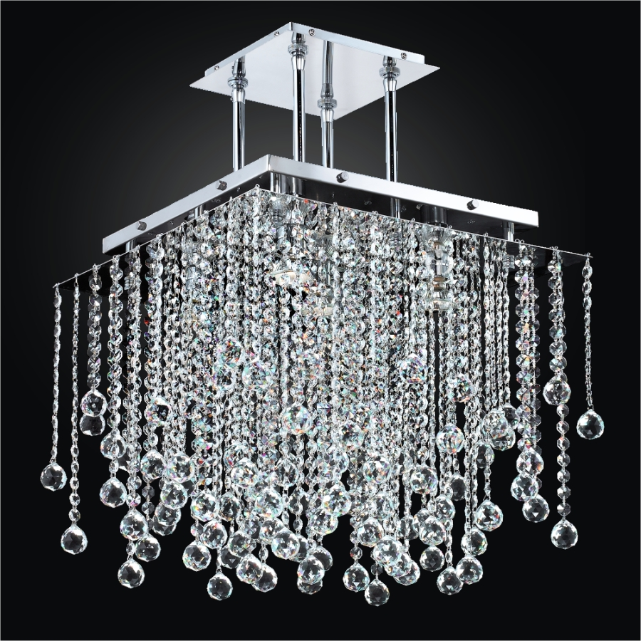 Crystal Ball Chandelier Square Crystal Chandelier