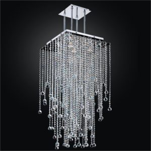 Modern Crystal Ball Chandelier | Cityscape 598F by GLOW® Lighting;
