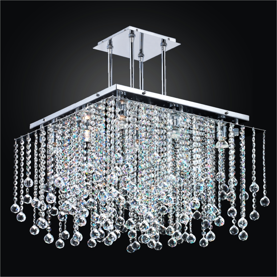 Crystal Ball Chandelier | Cityscape 598F by GLOW® Lighting;