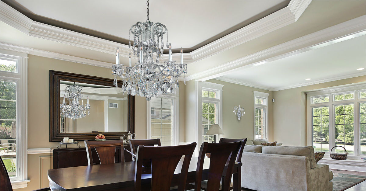 Dining room dazzlers sparkling crystal dining room chandeliers glow lighting - Crystal chandelier for dining room ...