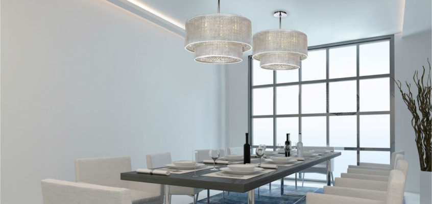 Dining Room Dazzlers… Sparkling Crystal Dining Room Chandeliers