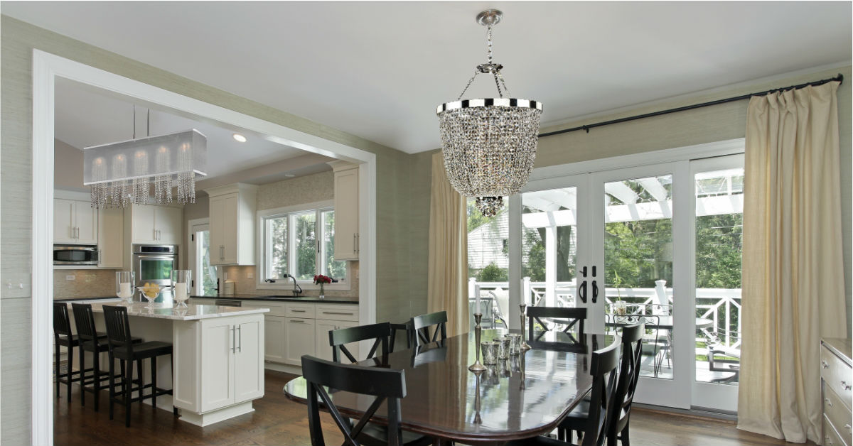 Amazing Traditional Dining Room Basket Shaded Crystal Chandelier