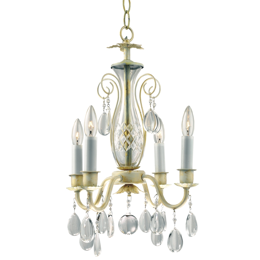 Country Chic 556hd Smooth Prism Small Chandeliers 4 Lights