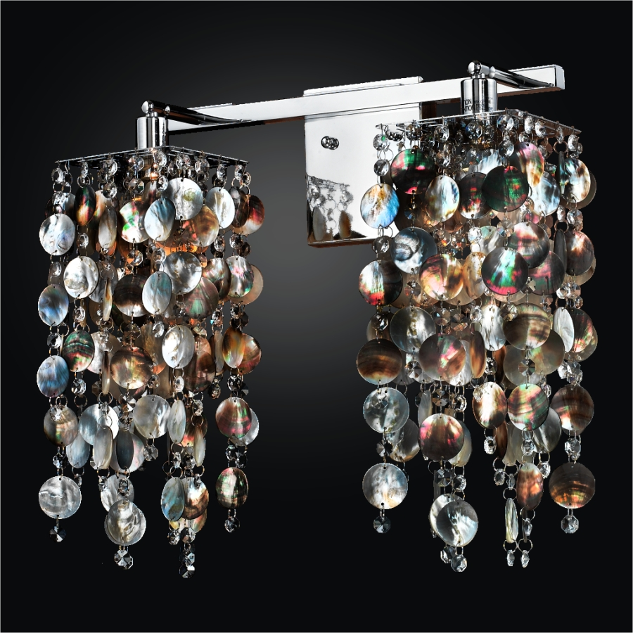 Mother of Pearl Wall Sconce | Cityscape 598P by GLOW® Lighting;