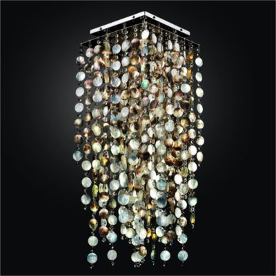 Mother of Pearl Shell Long Square Flush Mount | Cityscape 598P