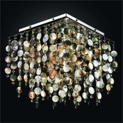 Mother of Pearl Shell Square Flush Mount | Cityscape 598P