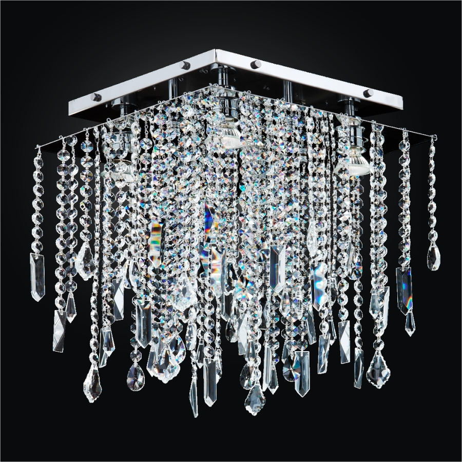 Crystal Ceiling Light Fixture | Cityscape 598M by GLOW® Lighting.