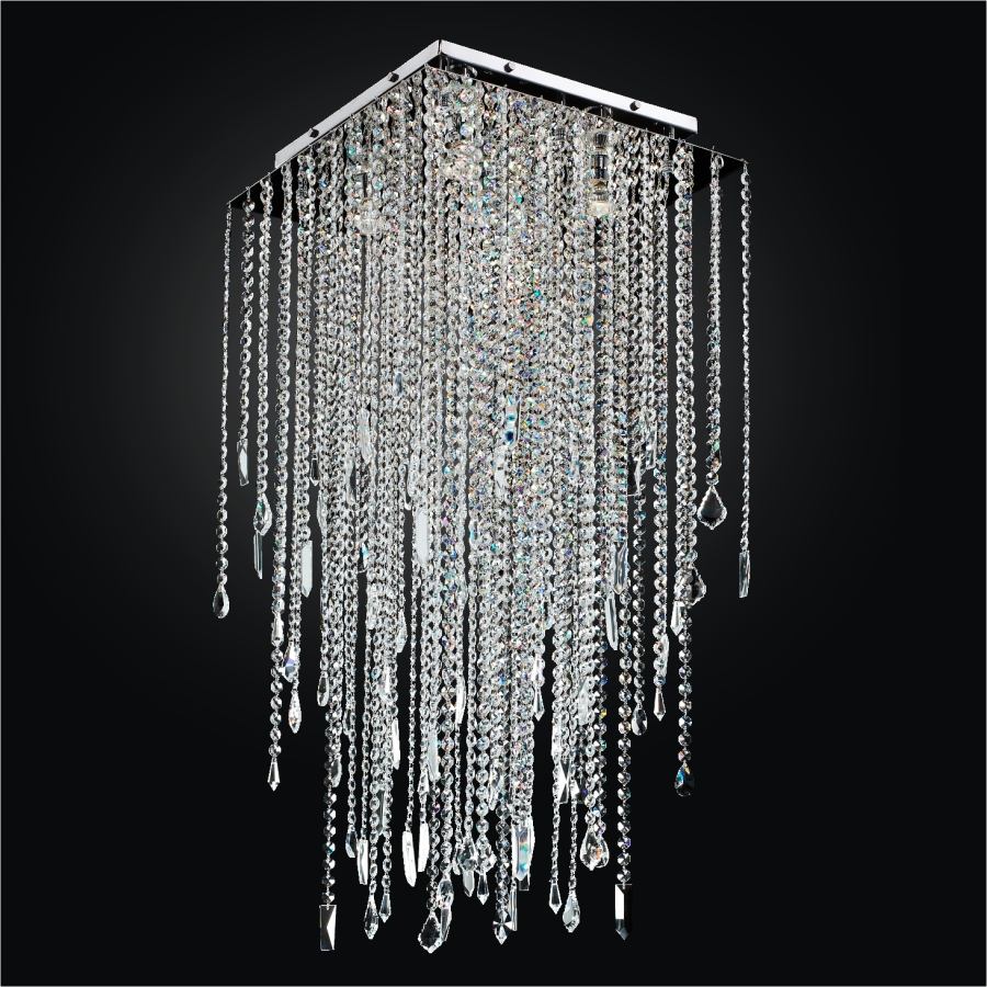Square crystal flush ceiling light long crystal ceiling light 598m square crystal flush ceiling light long crystal ceiling light cityscape 598m by glow aloadofball Gallery