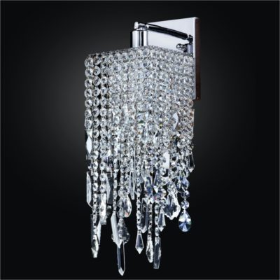 Crystal Wall Sconce with Assorted Shaped Crystals | Cityscape 598M