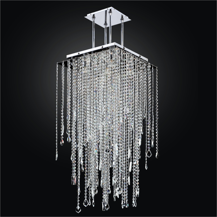 category pendants chandeliers long square crystal chandelier