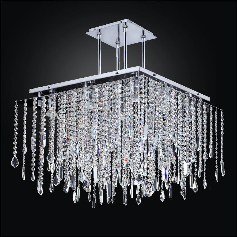 category pendants chandeliers square crystal chandelier