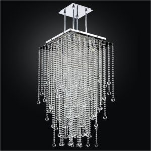 Beaded Pendant Chandelier | Cityscape 598B by GLOW® Lighting;