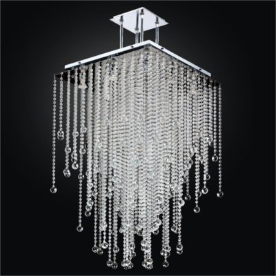 Square Chandelier Long Smooth Bead Trimming | Cityscape 598B
