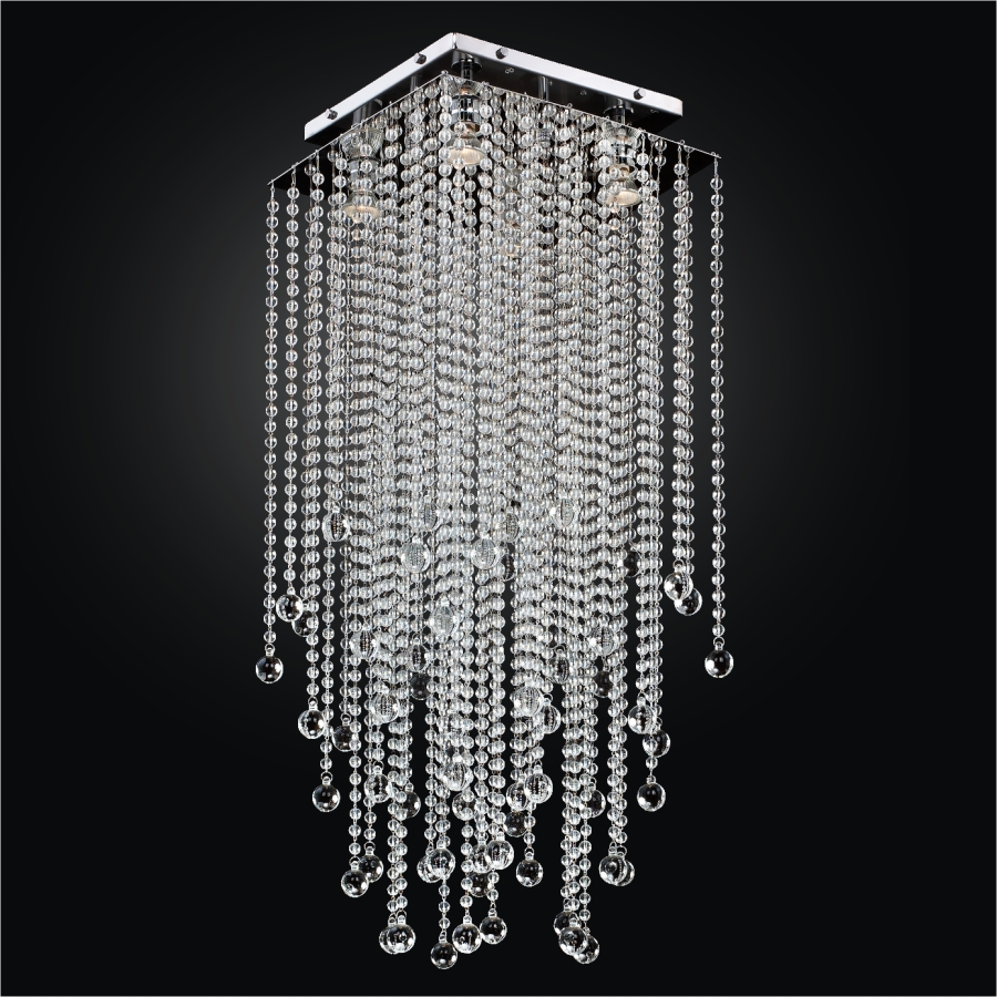 Beaded Ceiling Light | Cityscape 598B by GLOW® Lighting;
