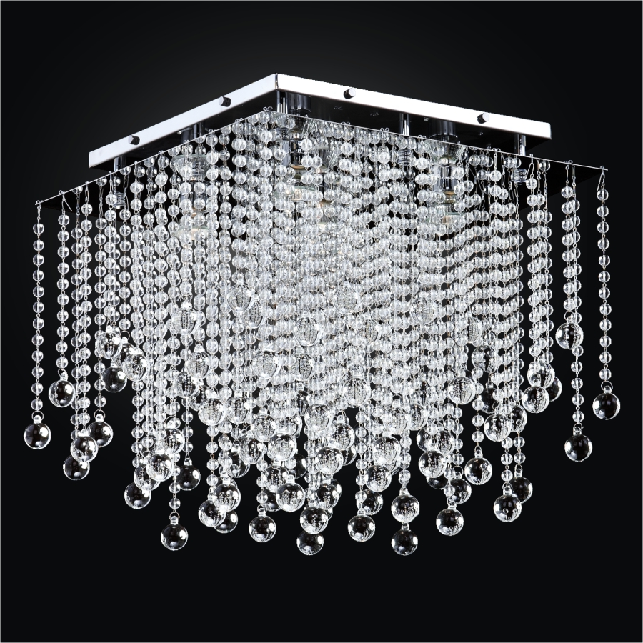 Crystal Beaded Ceiling Light | Cityscape 598B by GLOW® Lighting;
