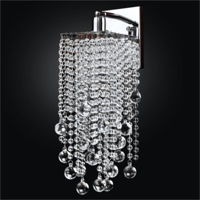 Crystal Wall Sconce Smooth Bead Trim | Cityscape 598B