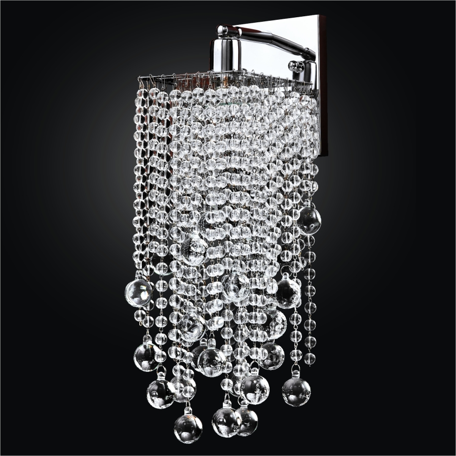 Crystal Beaded Wall Sconce | Cityscape 598B by GLOW® Lighting