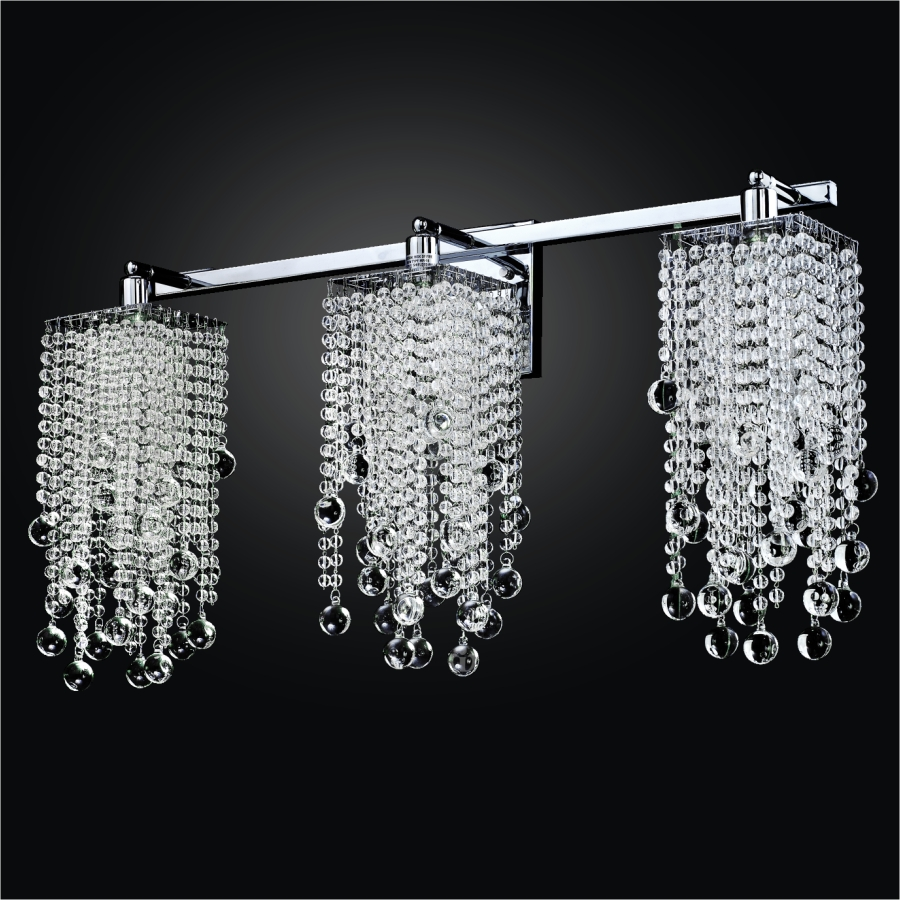 Crystal Beaded Wall Sconce   Cityscape 598B by GLOW® Lighting;