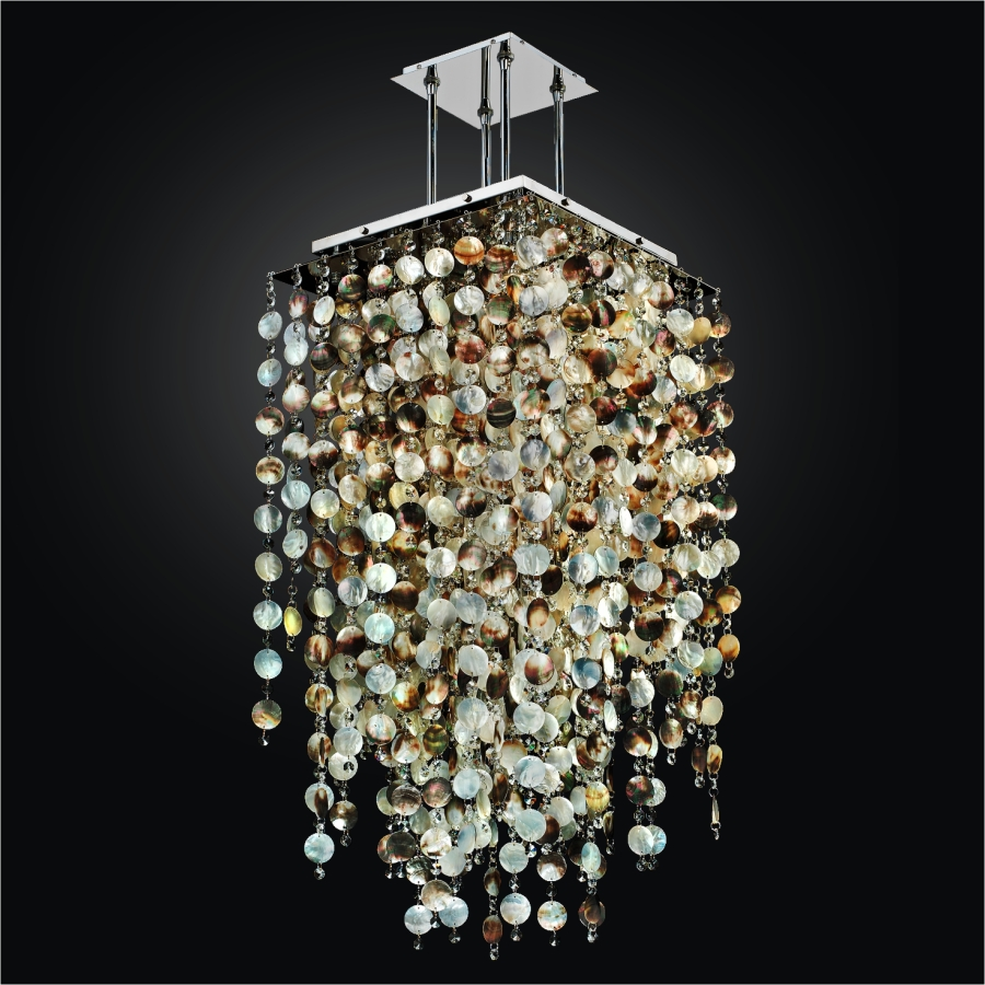 Mother of Pearl Chandelier | Cityscape 598P by GLOW® Lighting;