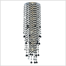 Beaded Wall Sconce - Black and White Sconce | Crystal Rain 566JW8LSP-7J