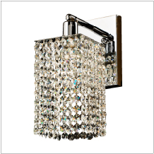 fuzion x glow crystal wall sconce 7W1LSP+702A-3