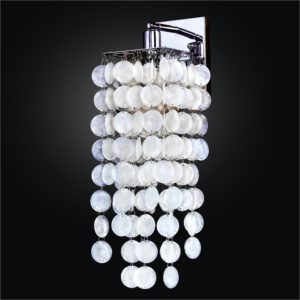 Capiz Shell Wall Sconces | Cityscape 598C by GLOW® Lighting.