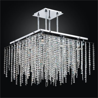 Square Crystal Chandelier – Square Chandelier   Cityscape 598A