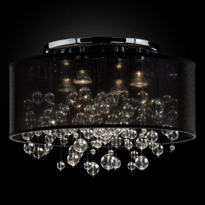 Bubble Light Fixture – Flush Mount Drum Shade | Silhouette 590