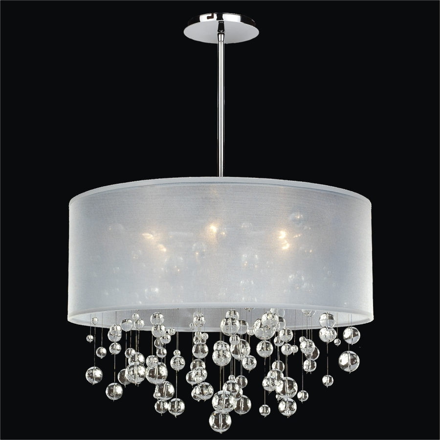Glass Bubble Chandelier Silhouette 590 Glow 174 Lighting