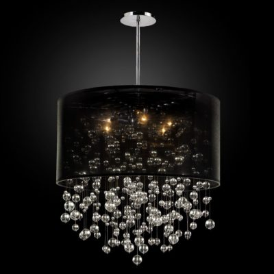 Bubble chandelier drum shade chandelier silhouette 590