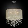 Drum Shaded Crystal Bead pendant Silhouette 590 by GLOW® Lighting.;