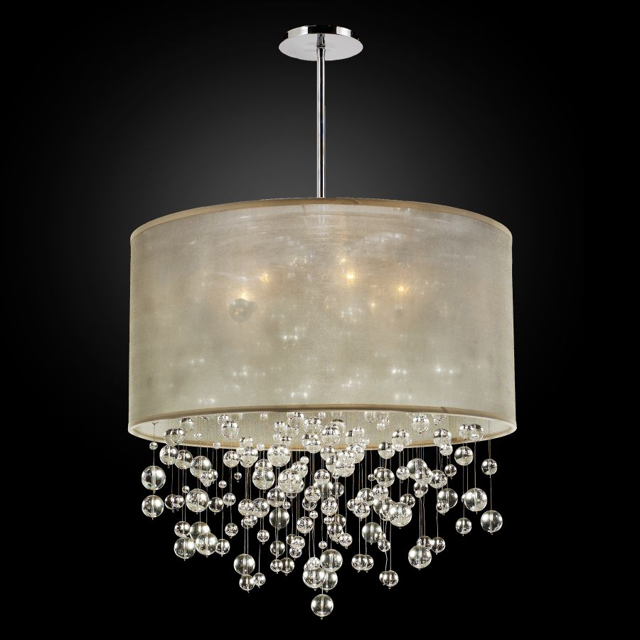 Glass Bubble Chandelier | Silhouette 590BD24SP-T-7C